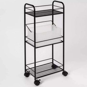 NWT Metal Shelf Tower Black - Room Essentials